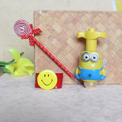 Smiley Bracelet Rakhi with Gif..