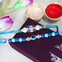 Blue Rakhi Set