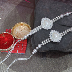 Water Drop Shape Pearl Rakhi P..