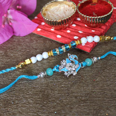 Blue Rakhi Pair for Brothers