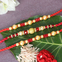 Beaded Pearl Rakhis for Brothe..