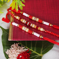 Stone Studded Beaded Rakhis