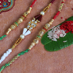 Attractive Beaded Rakhi Set