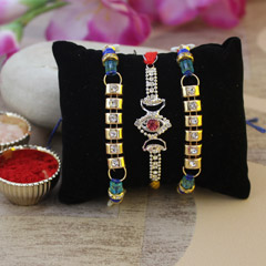 Sparkling Rakhi Set of 3