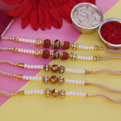 White & Golden Rakhis
