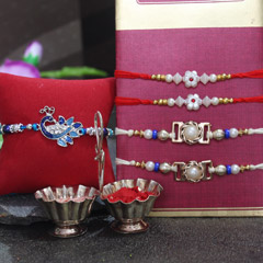Pretty Rakhi Set of 5