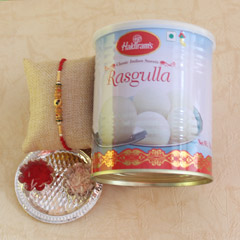 Rasgulla with Rakhi