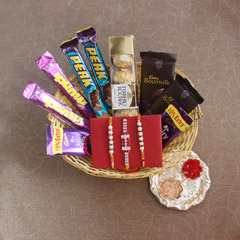 Chocolaty Treats in Basket