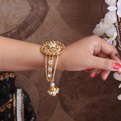 Golden Lumba Rakhi Bracelet