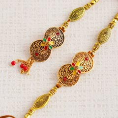 Eye-catchy Lumba Rakhi set