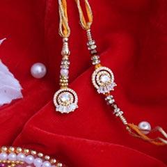 Glittering Stones Lumba Rakhi ..