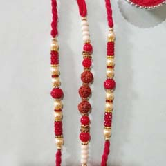 Graceful Rudraksha Rakhi Colle..
