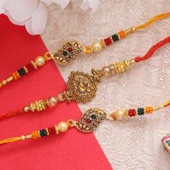 Magnificent set of 3 Golden Ra..