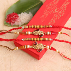 Stunning Golden & Red Threads