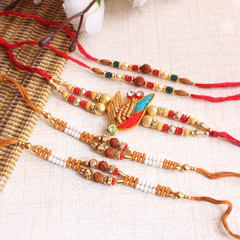 Beaded Zardoshi Rakhi Set