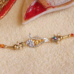 Attractive AD Stone Rakhi