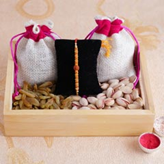 Delightful Rakhi combo of love