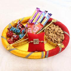Wooden Om Rakhi Hamper
