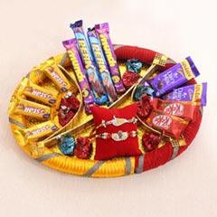 Golden Rakhis Chocolate Hamper