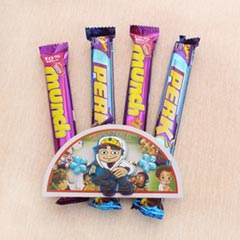 Subway Surfer Rakhi with Choco..