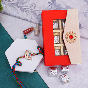 Rakhi with Chocolate hamper