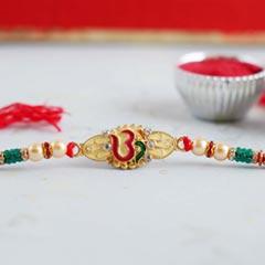 Golden Om Rakhi