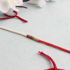 Pearl Rakhi Thread