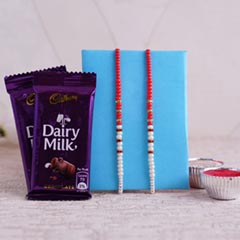 Set of 2 Pearl Rakhi with Choc..