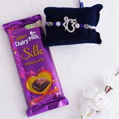 Ek Onkar Stone Rakhi with Silk..