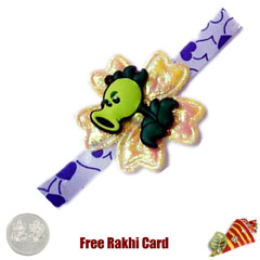 Cute Rakhi with Free Silver Co..
