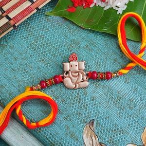 Lord Ganesha Golden Designer R..