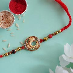Ethnic Ganesha Designer Rakhi