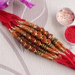 Divine Rudraksha Rakhi Set of ..