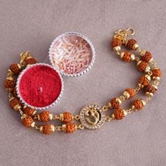 OM Rudraksha Designer Bracelet..