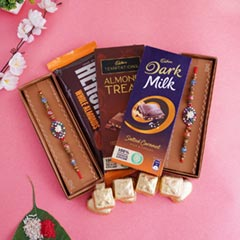 Classy Rakhi with Chocolates H..