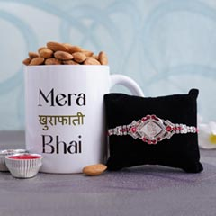Silver Rakhi with Almonds and ..