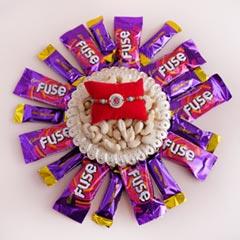 Designer Rakhi with Chocolates..