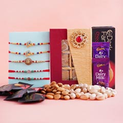 Five Rakhi Set with Chocolates..