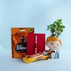 Rudraksha Rakhi with Chocolate..