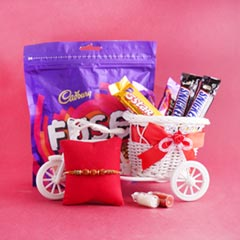 Designer Rakhi with Chocolate ..