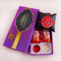 Spider Man Rakhi with Chocolat..