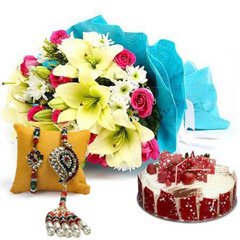 Elegant Bouquet with Cake N Ra..
