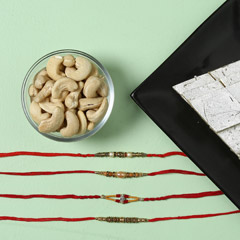 Elegant Silver Rakhi Set with ..