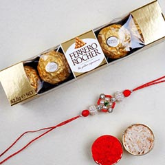 Appealing Floral Rakhi And 6 P..