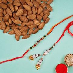 Pearl Rakhi Set And Almonds