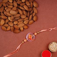 Ganesha Rakhi And Almonds Comb..