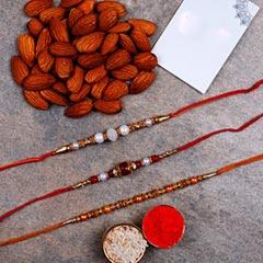 Set Of 3 Designer Rakhis And A..