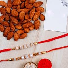 Almonds And Rakhi Combo