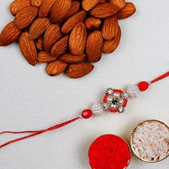 Appealing Floral Rakhi And Alm..