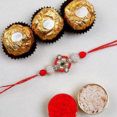 Appealing Floral Rakhi And 3 P..